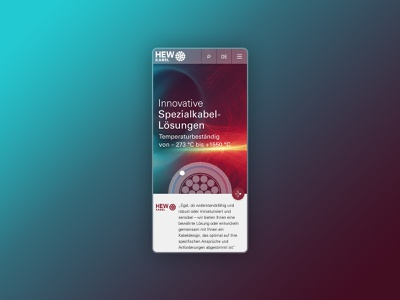 HEW Kabel Mobile UI transparent gradients mobile ui homepage webdesign screendesign user interface ux ui branding design adobexd branding