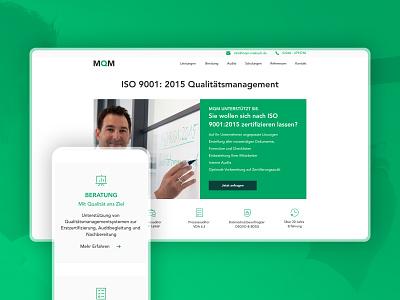 MQM Mobile and Desktop UI branding design corporate design homepage screendesign user interface webdesign ux ui adobexd branding