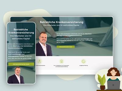 DKV - bKV Mobile and Desktop UI homepage screendesign webdesign user interface corporate design ux ui adobexd branding