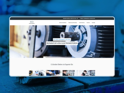 E.Schulte Elektro Desktop UI landing page landingpage webdesign homepage user interface corporate design branding design adobexd branding