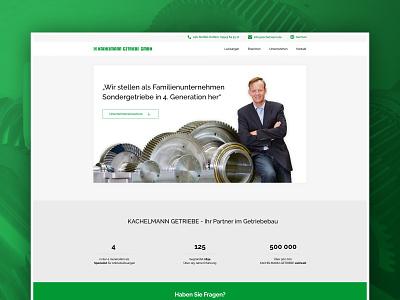 Kachelmann Getriebe GmbH Desktop UI adobexd adobe xd homepage ux ui user interface screendesign webdesign corporate design branding
