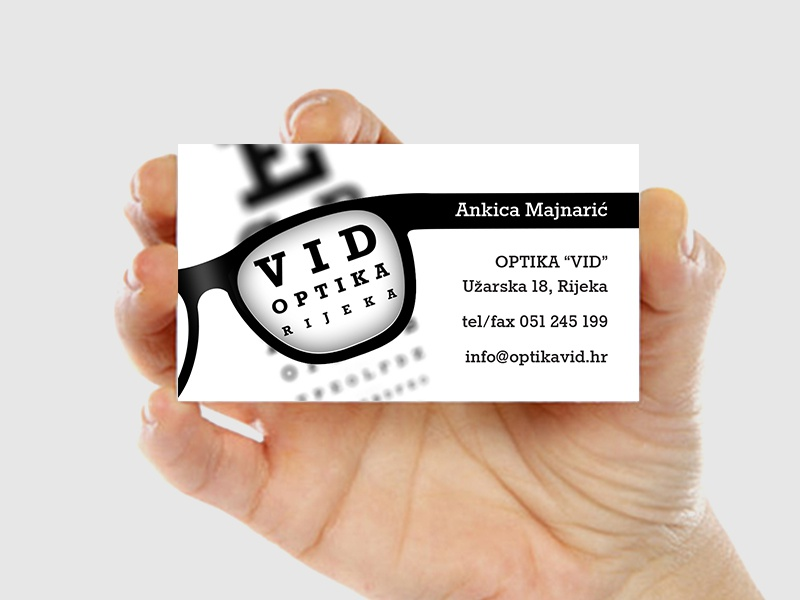 Optika vid business card by sanjin celeski dribbble reheart Choice Image