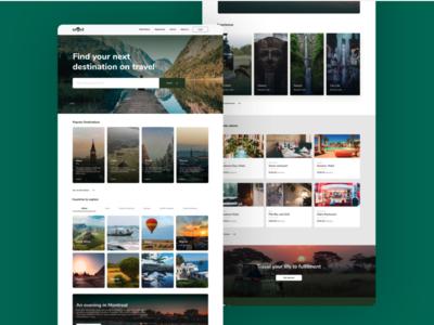 Travel Web UI/UX