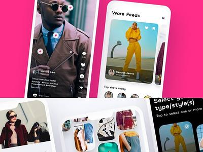 Fashion App Design design app ux