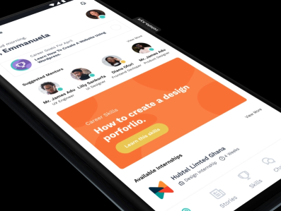 Mentorship App by Design Den team app ui ux design