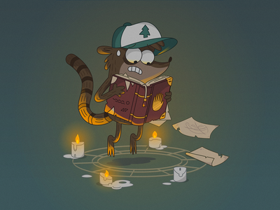 WHAT IS IT, RIGBY? illustration gravity falls vector flat design flat character design cartoon illustration cartoon design cartoon art