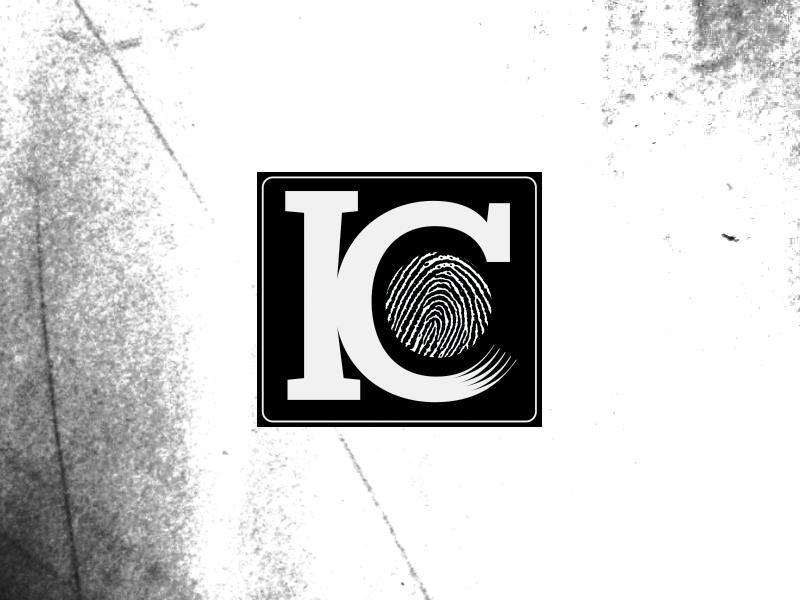 KC Identity option logo branding identity black white fingerprint texture typography letter letterform square bug world round custom