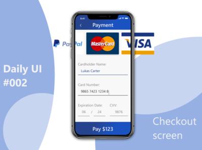 Daily UI 002 - Checkout screen daily ui ux ui app