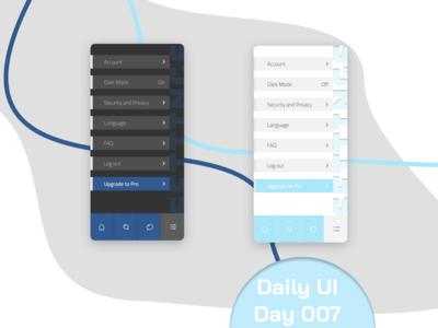 Day 007 - Settings settings ui settings app ui daily ui