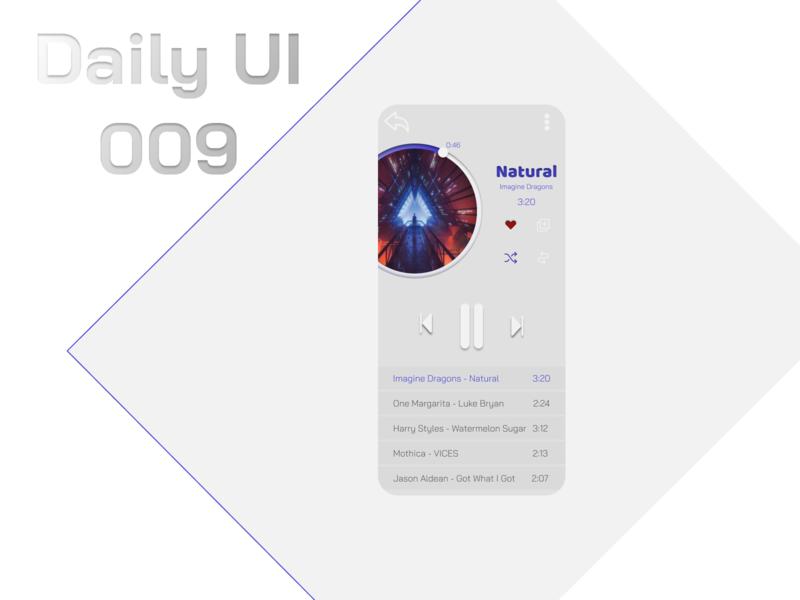 Daily UI 009 - Music Player music player figmadesign figma music app ui daily ui