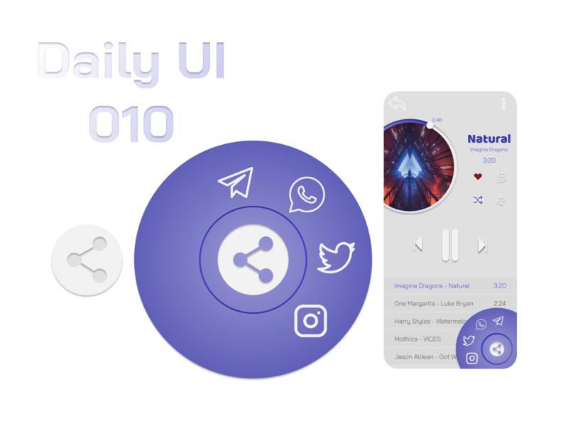 Daily UI 010 - Social Share figmadesign figma music player social share app ui daily ui