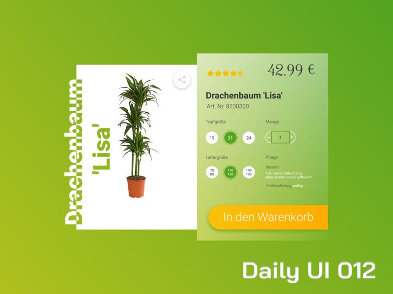 Daily UI 012  - E-Commerce Shop  (Single Item) daily ui 012 e-commerce shop single item figmadesign figma dailyui ui daily ui
