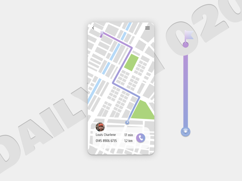 Daily UI  020  Location Tracker deliverytracker location tracker dailyui020 020 figma figmadesign ui dailyui