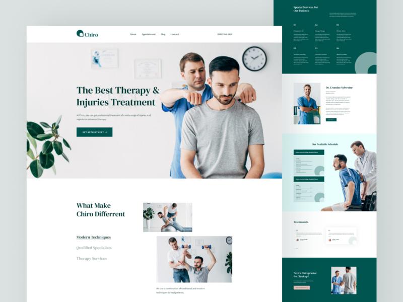 Chiro - Chiropractic Care Landing Page