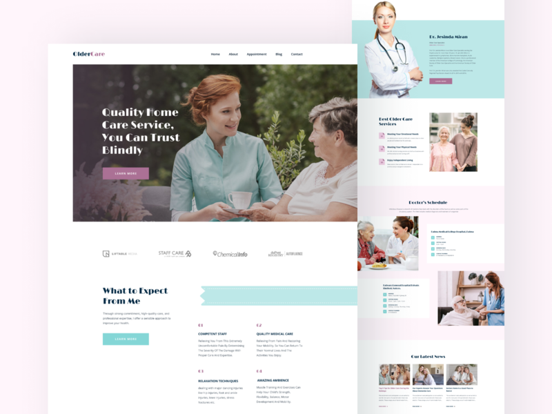 OlderCare Landing Page
