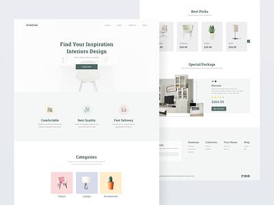 Exploration-Furniture Landing Pages landing page furniture design interface uiux uidesign ui
