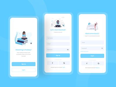Log in & Sign up - Exploration awesome design uiux designer uidesigns clean ui clean branding books apps design interface uiux uidesign ui