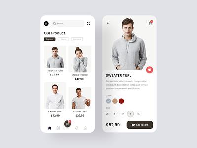 Exploration - Clothing App - Redesign fashion design fashion app clothing ui clean ui branding apps design uiux uidesign interface
