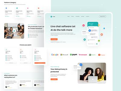 Chatbot Website - Exploration chat bot chatbot web design website user interface awesome design clean clean ui apps branding design uiux uidesign ui interface