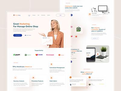 Online Shop Management Website - Exploration agency website online shop management app landing page awesome design clean ui branding design uiux ui uidesign interface