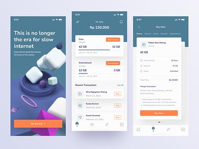 Internet Provider - Exploration app quota provider internet clean awesome design clean ui branding design uiux uidesign ui interface