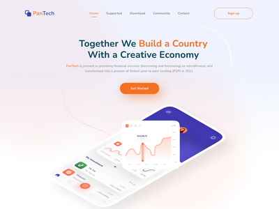 Fintech - Landing Page finance fintech landingpage webdesin uidesign design uiux interface
