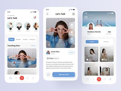 Influencer Mobile Apps - Exploration minimalis modern influencer instagram socialmedia apps branding interface design uidesign uiux