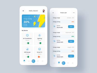 Smart Home - Mobile Apps smart home home app smart energy home devices electric mobile energy usage apps design ui interface uidesign uiux