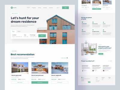 Real Estate Home Page vacation house apartment homepage landingpage webdesign homestay realestate design uidesign interface uiux