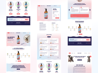 Barking Bandits shop product design ux ui web shopify clean e-commerce shampoo dogs