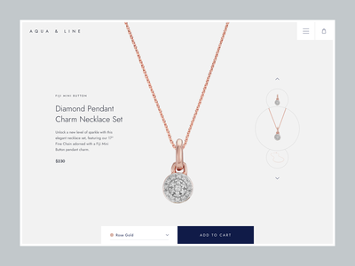 Jewelry - product details page product design ux clean ui web eshop jewelry shopify ecommerce e-commerce