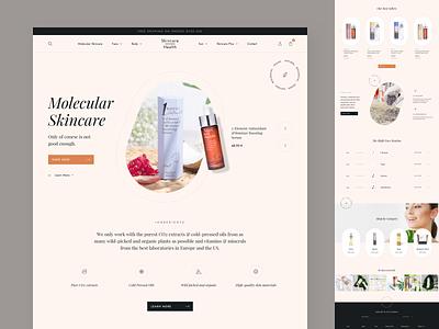 Skincare - Homepage beauty clean design ux ui web eshop body face serum skincare ecommerce e-commerce shopify plus shopify