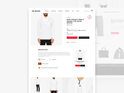 Mr Beard Product Details (full preview) gray list detail product fashion man white black eshop shop e-commerce