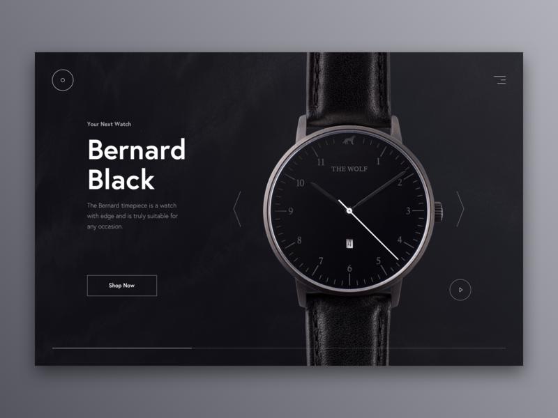 Watch Shop redesign web ux typography ui design index cart shopify product white shop black fashion clean eshop e-commerce watch