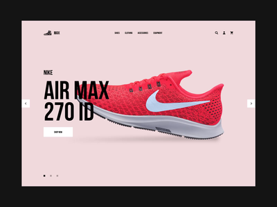 Max Homepage Hero nike running index sport design ux ui redesign minimal web product shop animation nike shoes sneakers fashion clean shopify eshop e-commerce