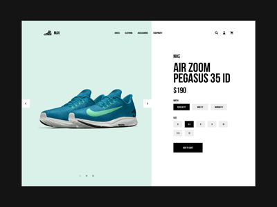 Max Product Details design ux ui redesign minimal index web shopify shop product fashion clean eshop e-commerce boots running nike shoes sneakers sport