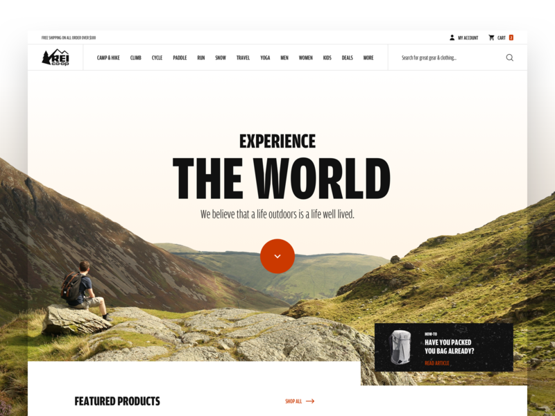 REI website redesign
