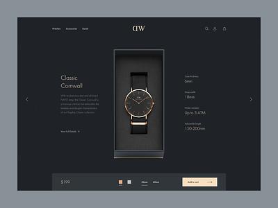 DW product details page redesign design ux ui web prestashop shopify eshop clean e-commerce ecommerce
