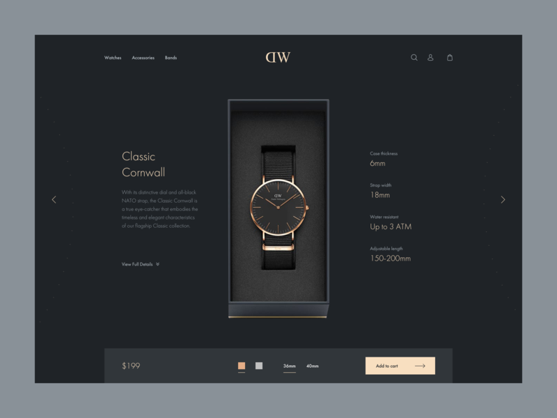 DW product details page