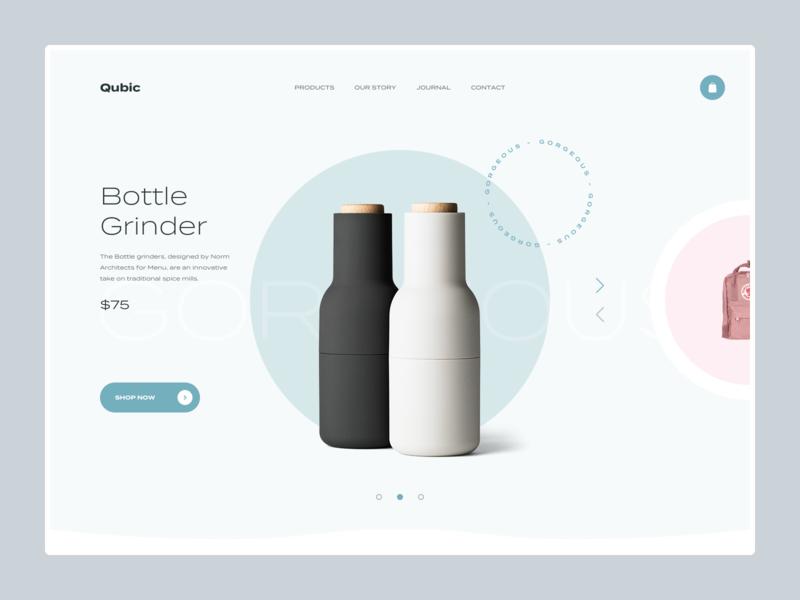 Quibic - homepage slider product design ux ui web magento prestashop shopify eshop clean e-commerce