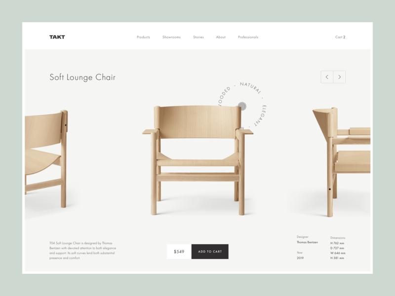 Takt - product details redesign