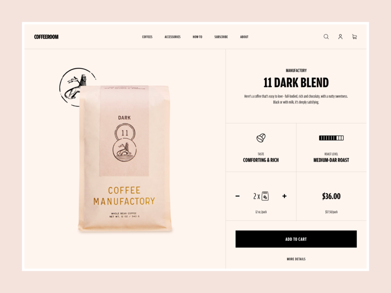 Coffee Room - product details page