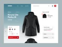 WINTSPO - product details page product design ux ui web magento prestashop shopify eshop clean e-commerce
