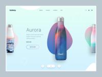 BottleUp - homepage slider product design ux ui web woocommerce prestashop shopify eshop clean e-commerce