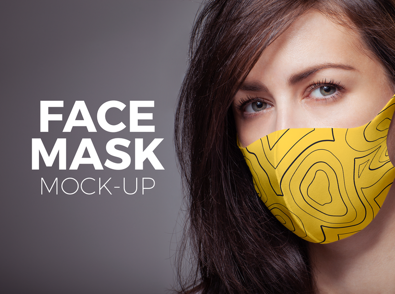 Face Mask Mock-up print mockup dresscode wear clothing fashion cover virus shield covid19 corona coronavirus medical protect mask protection face face mask
