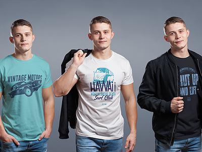 Crew Neck Male T-Shirt Mock-Up mockup tees mens clothing wear printing garment apparel fashion tshirts identity branding