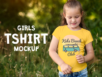Girls T-Shirt Mock-Up