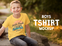Boys T Shirt Mock Up