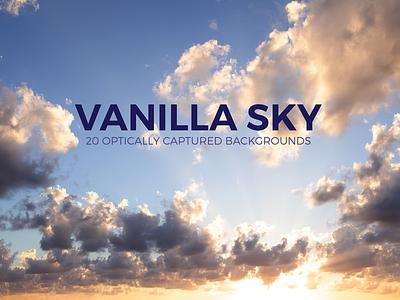 Vanilla Sky - 20 Optically Captured Backgrounds natural nature photography background wallpaper overcast heavens sunrise sunset blue clouds sky vanilla