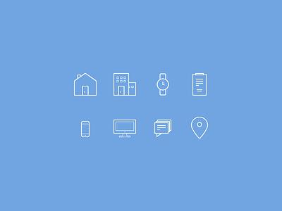 Icon Set Skinny icons iconography blue